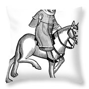 Chaucer: The Man Of Law Throw Pillow