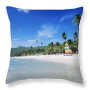 Chaweng Beach Throw Pillow