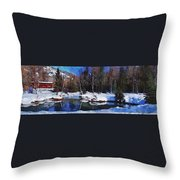 Chena Hot Springs Throw Pillow
