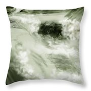 Cherry Creek White Water Throw Pillow by Anne Norskog