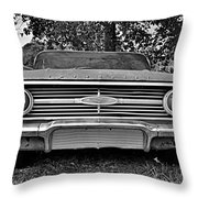 Chevrolet Bel Air Black And White 2 Throw Pillow