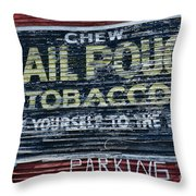 Chew Mail Pouch Tobacco Ad Throw Pillow