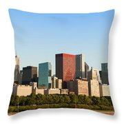 Chicago Downtown At Sunrise Throw Pillow