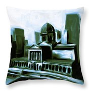 Chicago Federal Building 540 3 Throw Pillow