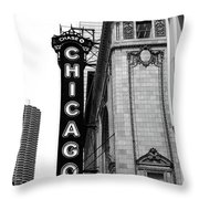 Chicago Theater Throw Pillow