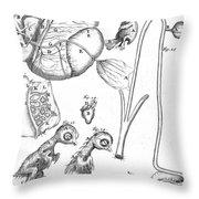 Chick Embryology, Malpighi, 1687 Throw Pillow