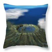 Chicxulub Crater, Illustration Throw Pillow