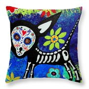 Chihuahua Day Of The Dead Throw Pillow