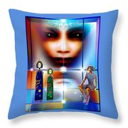 Children Of The Universe Throw Pillow