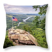 Chimney Rock State Park Throw Pillow