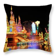 Chinese Lantern Festival Throw Pillow