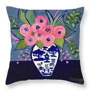 Chinoiserie Vase  Throw Pillow