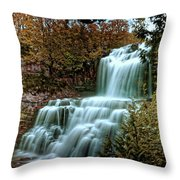 Chittanengo Falls Throw Pillow