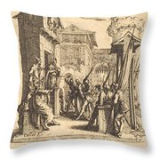 Christ Before Caiaphas Throw Pillow