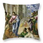 Christ Healing The Blind Throw Pillow