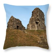 Christchurch Castle Throw Pillow
