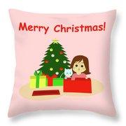Christmas #1 Throw Pillow