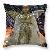 Christmas-angel Throw Pillow