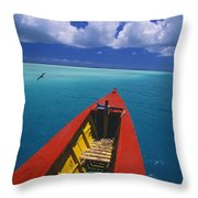 Christmas Island, Bone Fi Throw Pillow