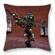 Christmas Lamps Throw Pillow
