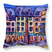 Christmas Market In Mainz Throw Pillow