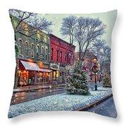Christmas On Main Street Throw Pillow