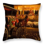 Christmas On The Common Throw Pillow