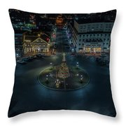 Christmas Lights, Looking North Throw Pillow