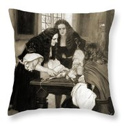 Christopher Wren Injects Drugs Throw Pillow