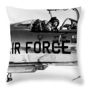 Chuck Yeager, Usaf Officer And Test Throw Pillow