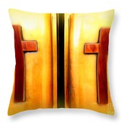 Church Doors Throw Pillow
