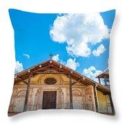 Church In San Javier, Bolivia Throw Pillow