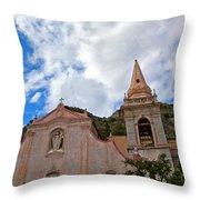 Church In Taormina Throw Pillow