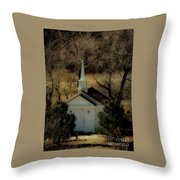 Church In The Garden Throw Pillow