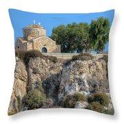 Church Of Profitis Elias - Cyprus Throw Pillow