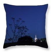 Church Under Night Sky Throw Pillow