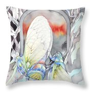 Cicada Couple Throw Pillow