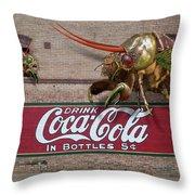 Cicada Turf War Throw Pillow