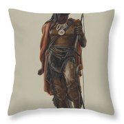 Cigar Store Indian Throw Pillow