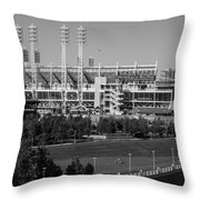 Cincinnati Reds Stadium Throw Pillow