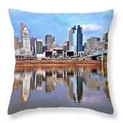 Cincinnati Reflects Throw Pillow