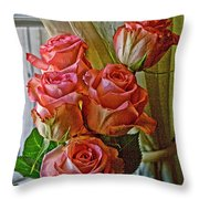 Cindy's Roses Throw Pillow