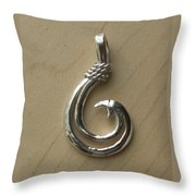Circle Hook Pendant Throw Pillow