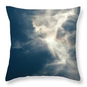Cirrus Clouds With Nature Patterns  Throw Pillow