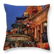 City - Vegas - Paris - Academie Nationale - Panorama Throw Pillow