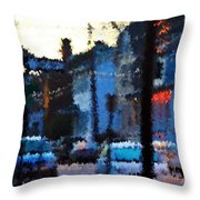 City As A Painting Throw Pillow