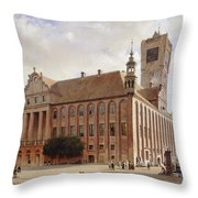 City Hall At Thorn Throw Pillow