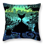 City Kitty Throw Pillow