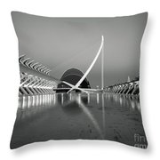 City Of Arts And Sciences Throw Pillow