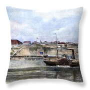 Civil War: Union Steamer Throw Pillow